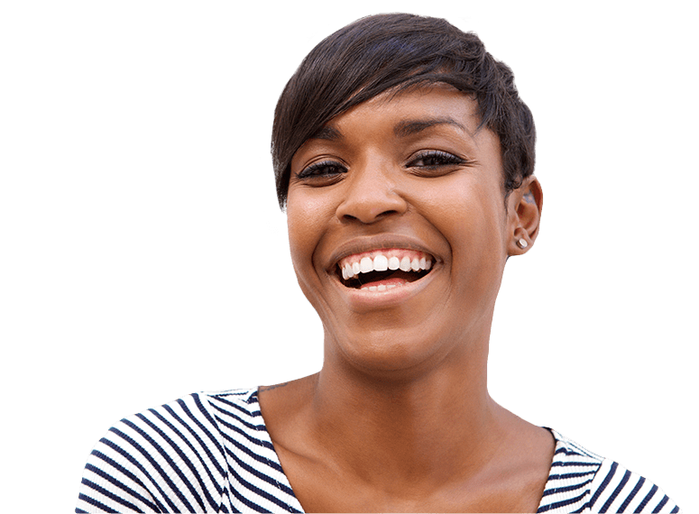 Woman sharing healthy smile