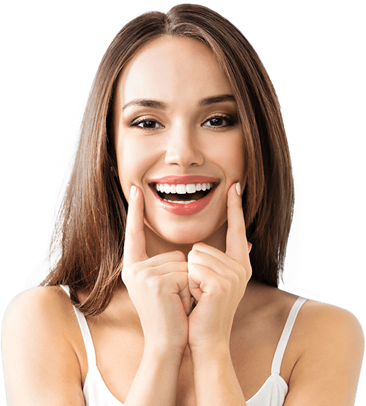 young woman with healthy smile