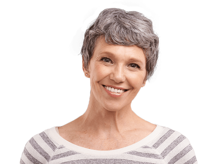 Older woman with whole healthy smile