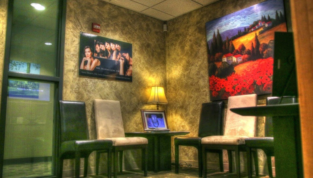 Waiting area in dental office