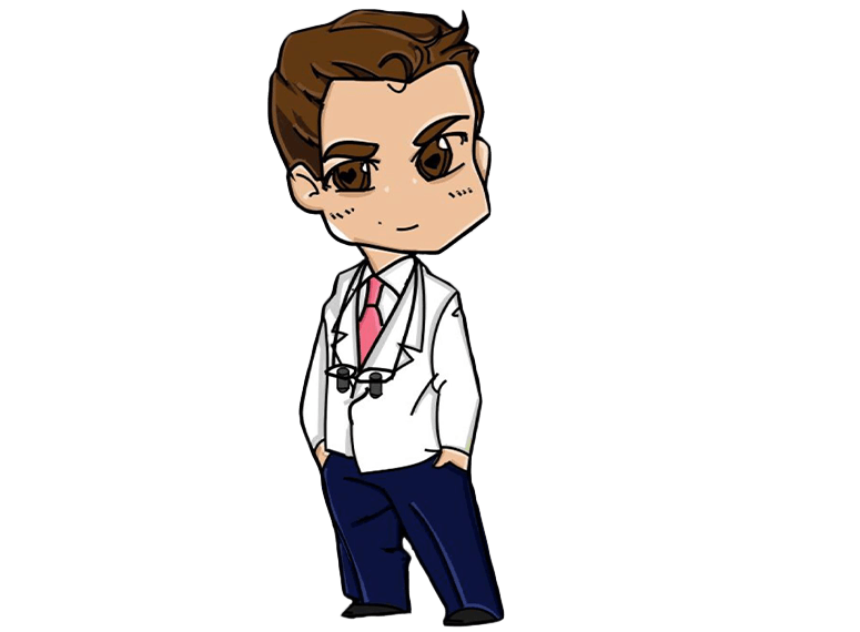 Cartoon image of Dr. Timmerman